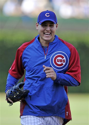Anthony Rizzo's enjoyed his debut at Wrigley Field. (AP Photo/Jim Prisching)