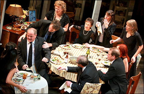"A scene from Tracy Letts' Pulitzer Prize-winning play ""August Osage County"" on Broadway. The film version, starring Meryl Streep, premieres November 8. (Flickr/Michael Brosilow)"