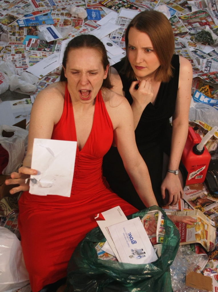 In 'Trash,' two sisters search for a letter from their dead mother.(Courtesy of Babes with Blades)