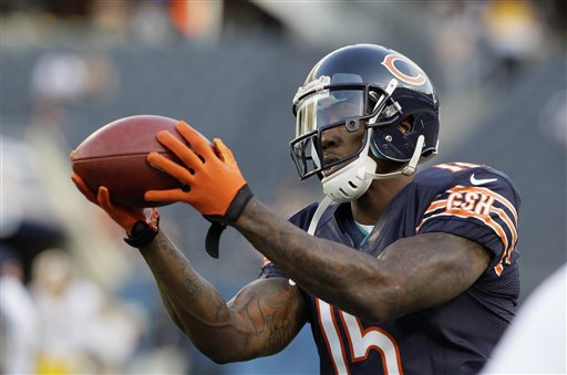 Expect to see more of wide receiver Brandon Marshall Friday in New York. (AP/Charles Rex Arbogast)