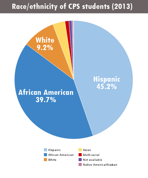 Source: Chicago Public Schools Race/Ethnic Report School Year 2013-2014