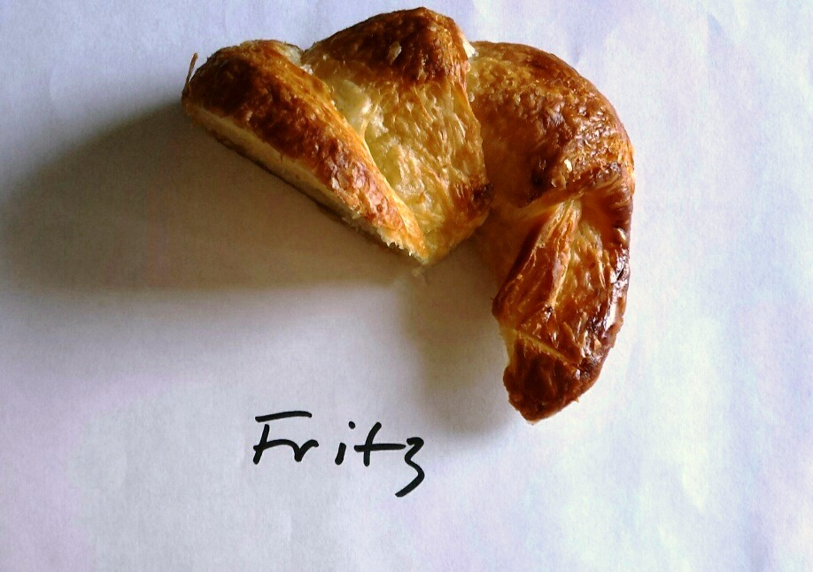 Fritz Pastry's ultra rich croissant tied for No. 1 in a recent Chewing the Fat croissant tasting. (WBEZ/Monica Eng)