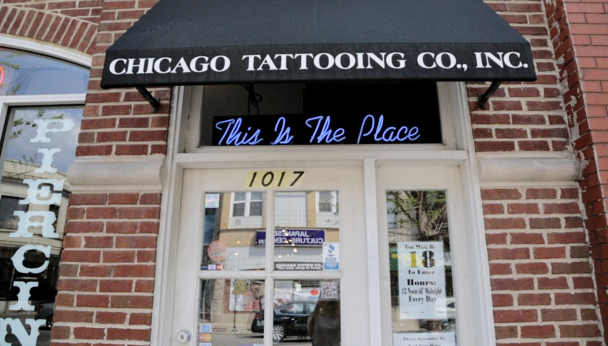 Chicago Tattoo and Piercing Co. is located at 1017 W. Belmont Ave. (Logan Jaffe/WBEZ)