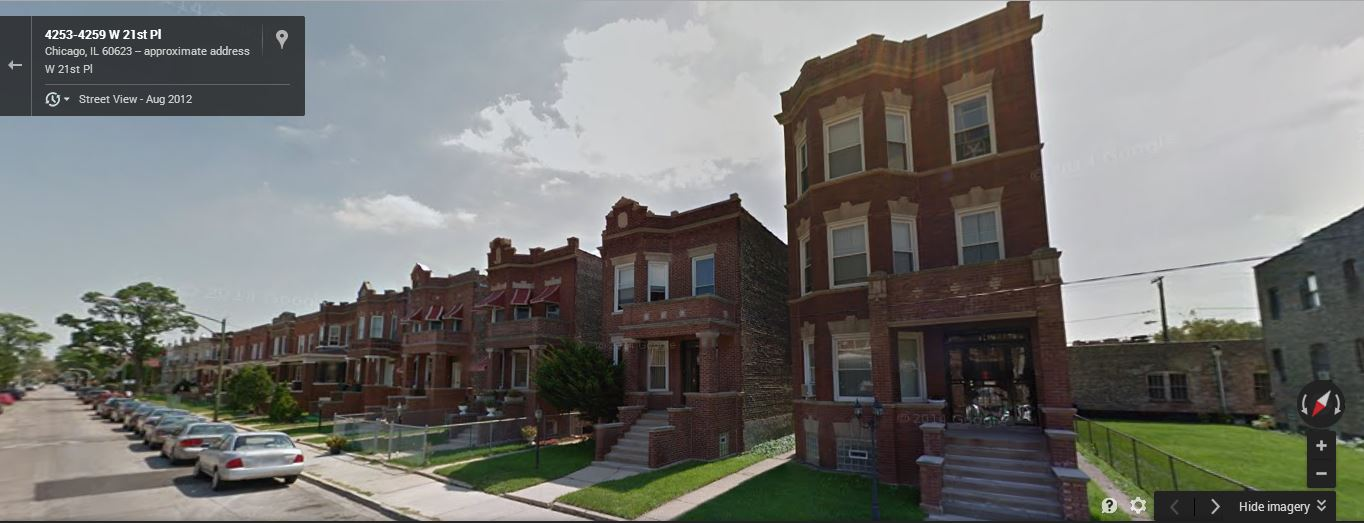 Frank Stuchal's two-flat was built in 1916. (Google Streetview/Google)