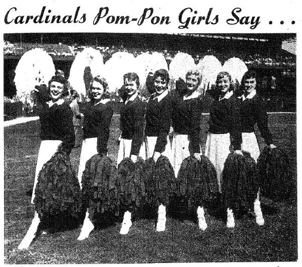 "Cardinals ""Pom Pon"" Girls (Photo Courtesy of Chicago History Museum)"