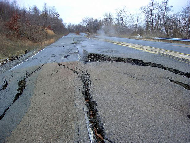 Route 61 through Centralia, Pa.  (Wikimedia Commons /JohnDS)