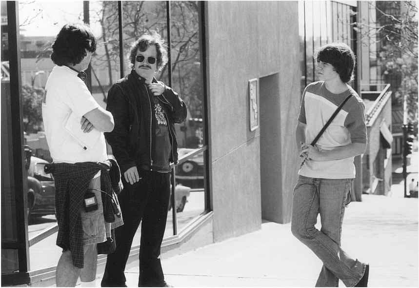 On the set of 'Almost Famous' (courtesy Cameron Crowe).