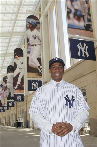 Curtis Granderson being dealt to the Yankees three years ago. (AP Photo/Seth Wenig)