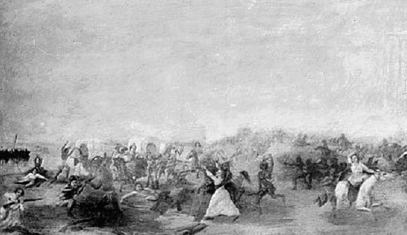 Painting of the battle, 1903 (Library of Congress/Chicago Daily News)