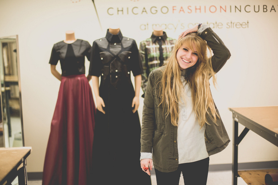 Designer Shelby Steiner and some of her looks. (Photo courtesy Grant Legan)