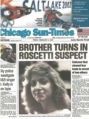 The first investigation, left on Page 1. (Chicago Sun-Times)