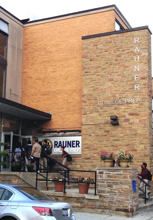 Rauner College Prep (WBEZ/Becky Vevea)