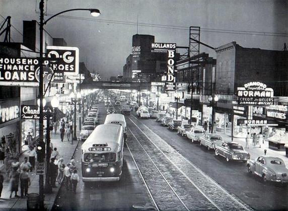 Halsted and 64th streets, 1955 (CTA photo)