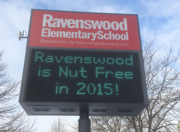 Ravenswood Elementary is one of only a handful of CPS schools to ban nuts in the entire building. (WBEZ/Derek John)