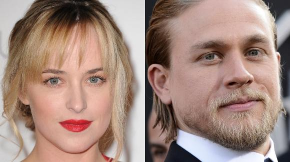 Dakota Johnson, left, and Charlie Hunnam have been cast as the leads in the film adaptation of