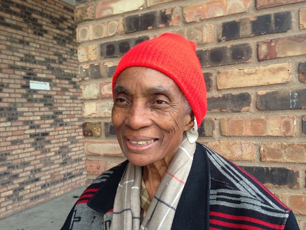 Lucille Bobo says she rarely missed a ballgame, cheering from the bleachers. (WBEZ/Yolanda Perdomo)