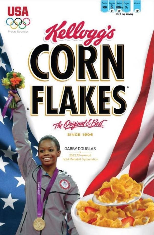 Gabby Douglas lands on the cover of Kellogg's