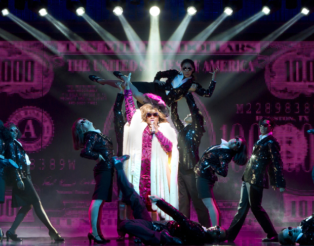 Da'Vine Joy Randolph performs in a scene from 'Ghost The Musical' at the Lunt-Fontanne Theatre in New York. Randolph, who plays a sassy psychic, earned a Tony Award nomination for her Broadway debut. (AP/The Hartman Group, Joan Marcus)