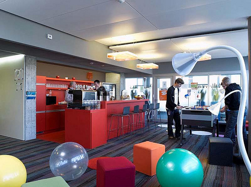 A Google office. Google practices a 20 percent rule for its engineers which allows them to use 20 percent of their time to explore interests and duties that may be out of their specific job description. (Flickr/andrewarchy)