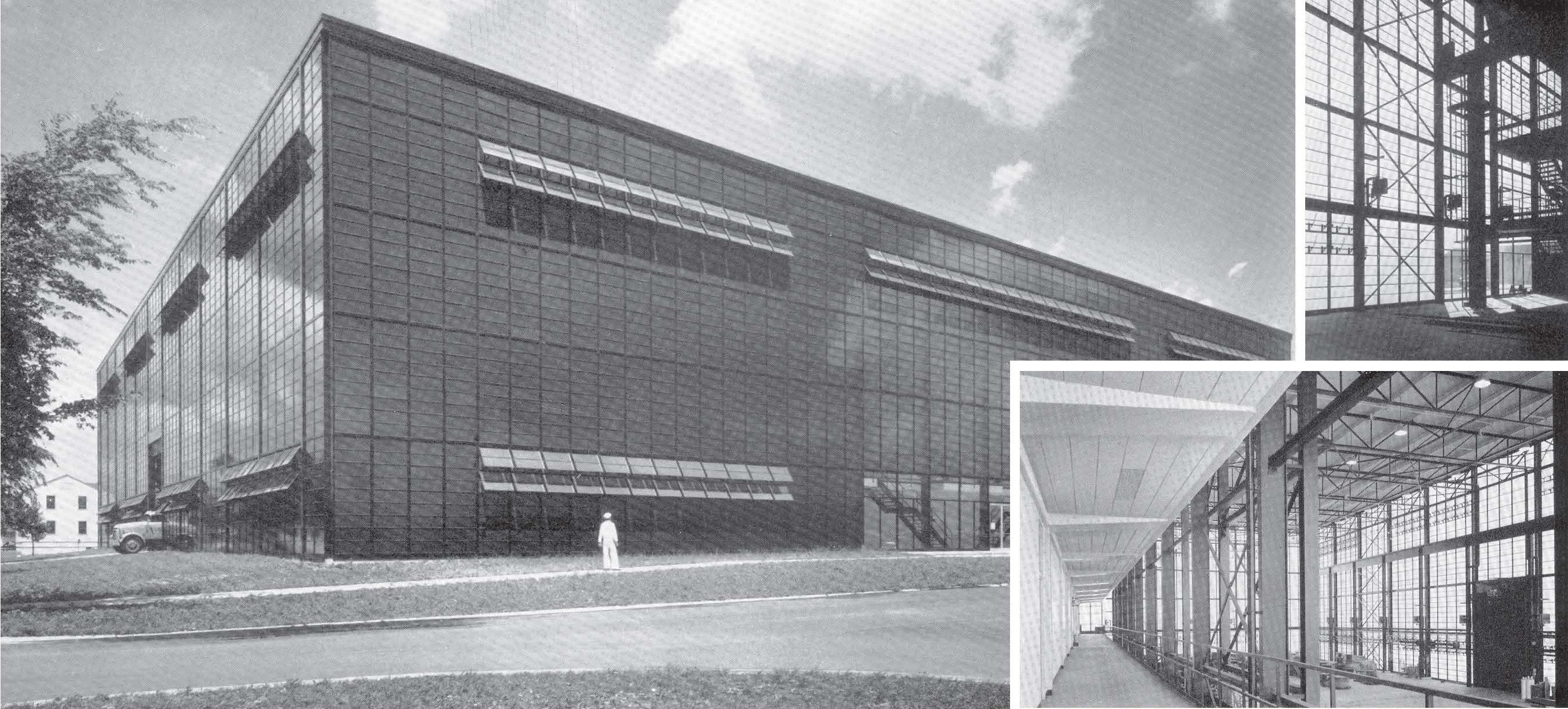 The early life of Building 521 on the Naval Station Great Lakes (Courtesy of Skidmore, Owings & Merrill)