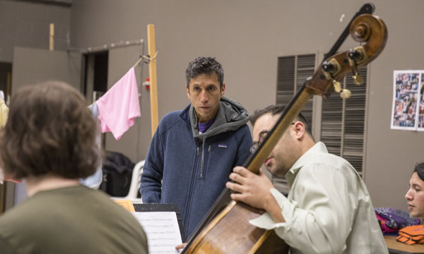 Héctor Buitrago in rehearsal for 'Another Word for Beauty' (Goodman Theater).