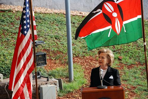 Sec. of State Hillary Clinton speaks in Kenya in 2009 (Flickr/IIP State)