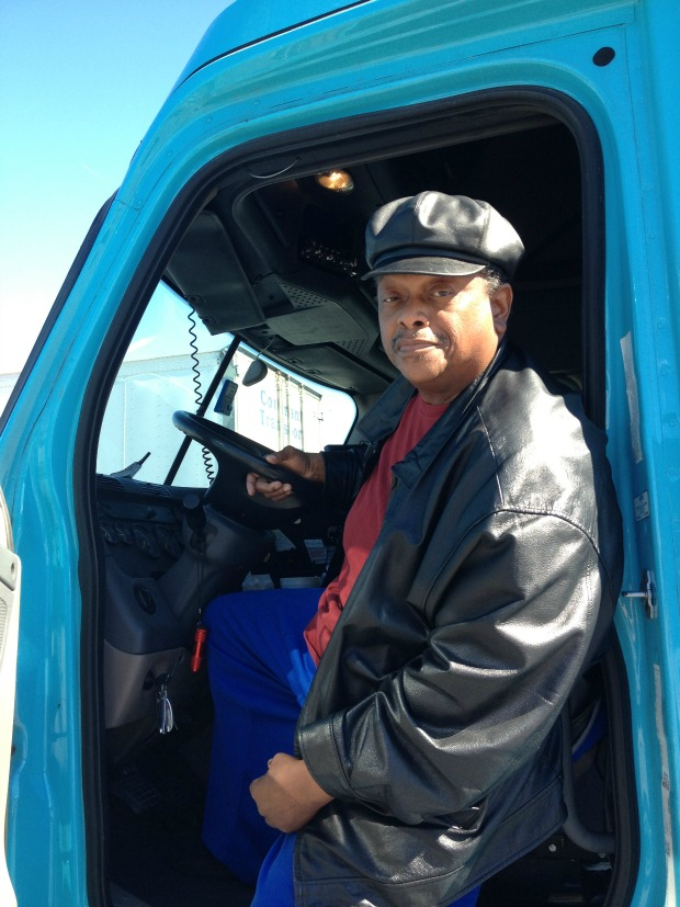 Trucker Tommy Daniels says the Illiana is needed to relieve congestion on Chicago area highways. (WBEZ/Michael Puente)