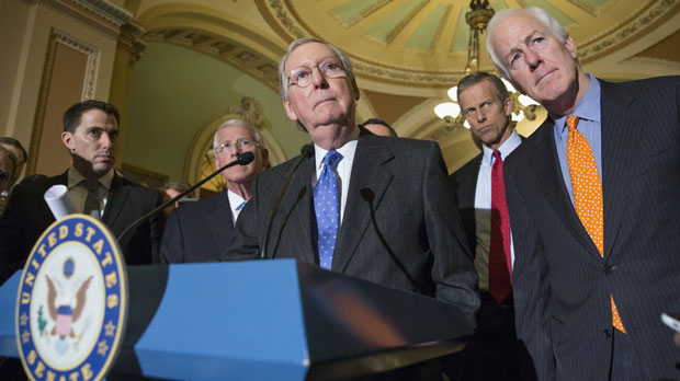 'I believe the overwhelming view of the Republican Conference of the Senate in the Senate is that this nomination should not be filled, this vacancy should not be filled by this lame duck president,' Senate Majority Leader McConnell said Tuesday. (J. Scott Applewhite/AP)