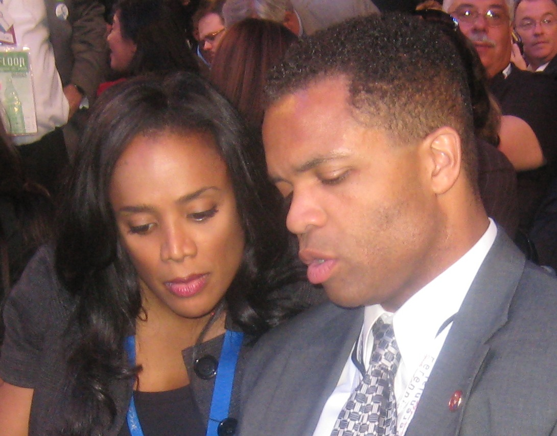Sandi and Jesse Jackson Jr., Aug. 26, 2008. (WBEZ)
