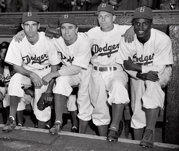 Jackie Robinson broke baseball's color barrier in 1947, becoming the first black player in the majors. (AP/file)