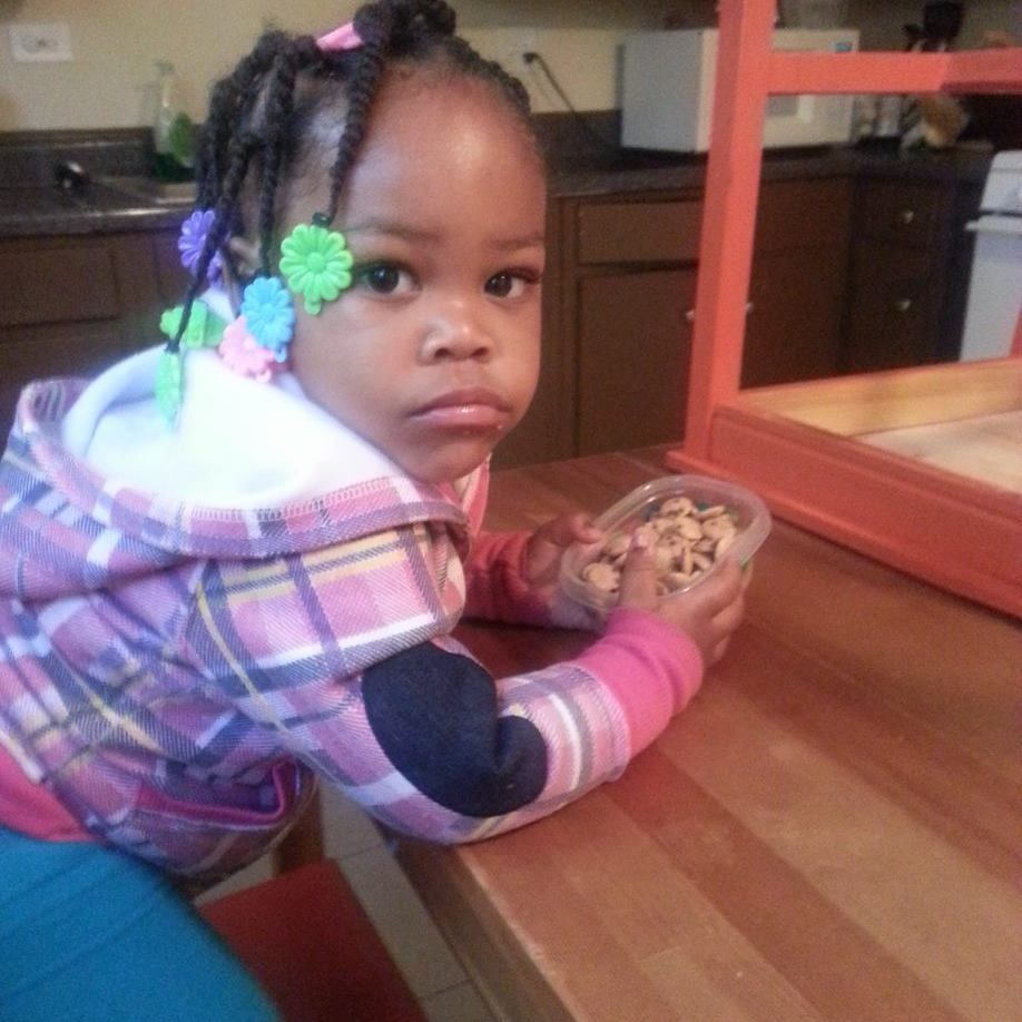 Jakarriah Patterson, 2, died March 2014. Her father was charged with murder. The little girl was found with dozens of bruises on her body