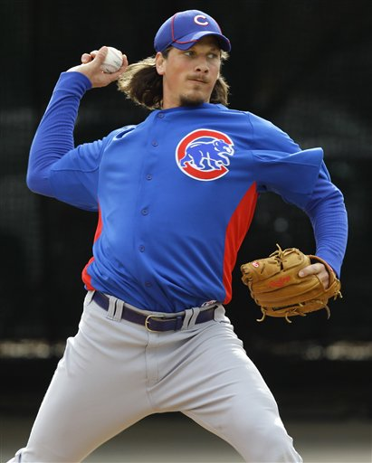 Jeff Samardzija is now a mainstay for the Cubs staff. (AP Photo/Matt York)