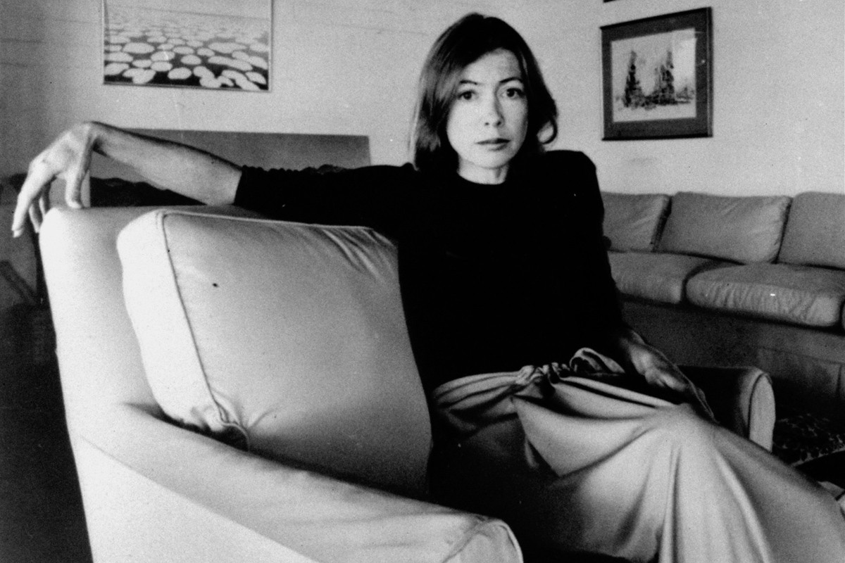 Joan Didion in 1977. (AP Photo/File)