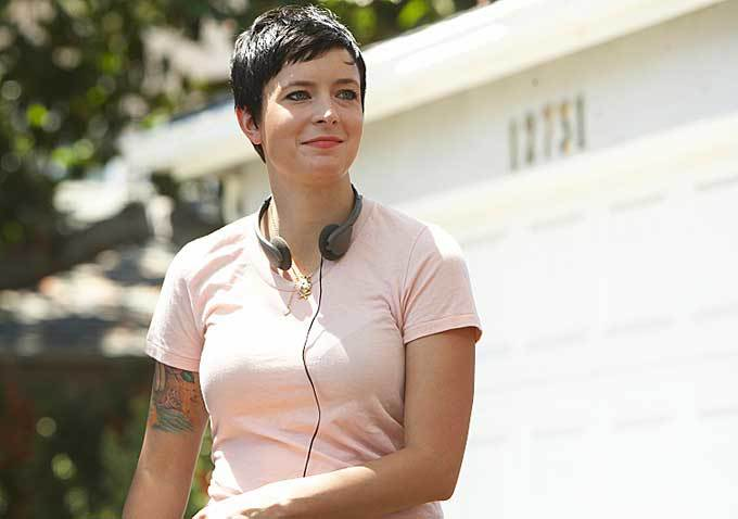 Diablo Cody on the set of her Showtime series