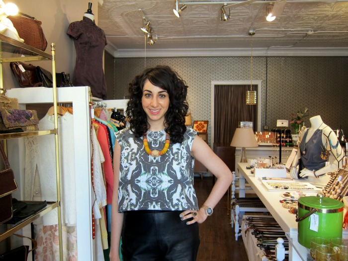 Julie Ghatan at Dovetail, her West Town boutique. (Photo courtesy Julie Ghatan)