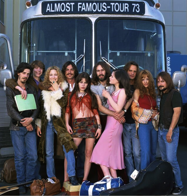 "Promo still: the tour bus of rock stars and Band Aids in ""Almost Famous."" (Almost Famous/Cameron Crowe)"