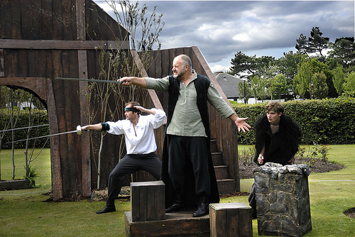 An outdoor Shakespeare production in England (Flickr/Lowther Pavilion)