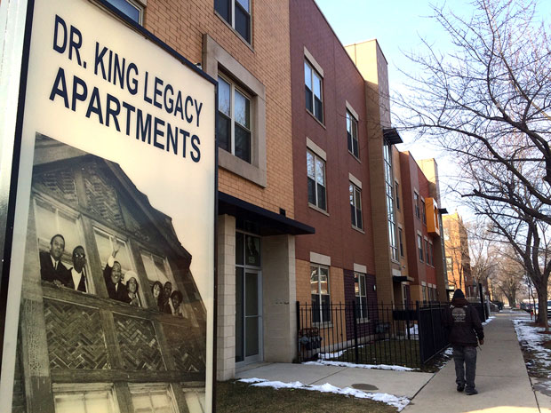The Martin Luther King Legacy Apartments (Linda Lutton/WBEZ)