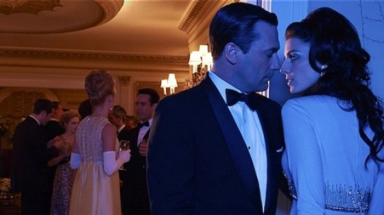 Don and Megan Draper get steamy in a promo still for 'Mad Men.' (AMC)