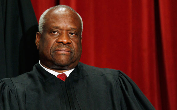 Before today, Justice Clarence Thomas hadn't asked a question from the Supreme Court bench since Feb. 22, 2006. (Mark Wilson/Getty Images)