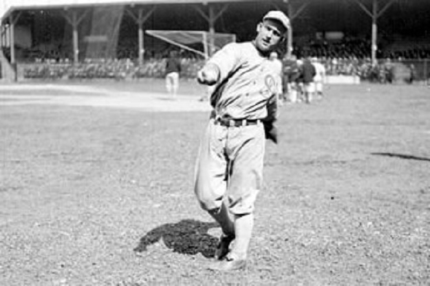 Mostil warms up before a game (Library of Congress)