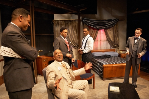 A production of Ed Schmidt's 'Mr. Rickey Calls a Meeting' staged at the Lookingglass Theatre. (Lookingglass Theatre/Sean Williams)