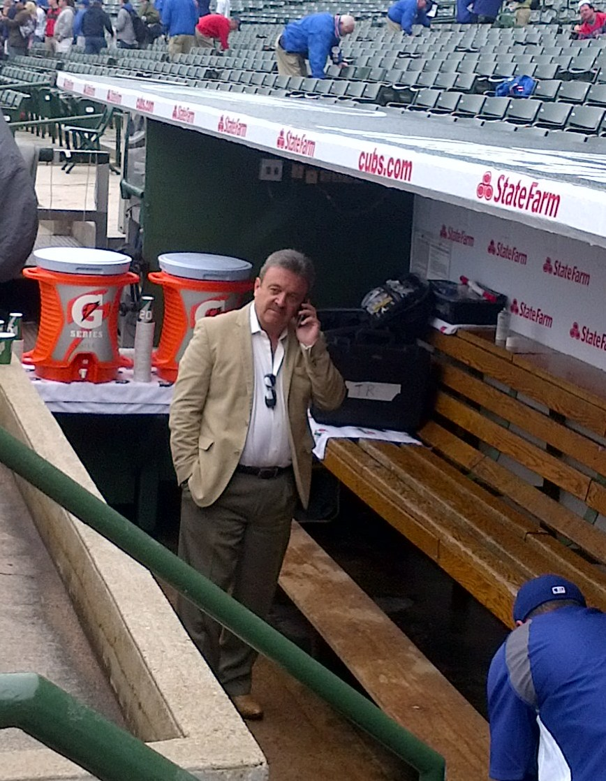 Los Angeles General Manager Ned Colletti at Wrigley Field in mid-May. (WBEZ/Cheryl Raye-Stout)