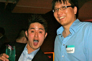 Norm Leong (left) at a TAP-Chicago Happy Hour this past Spring.
