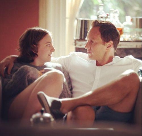 """Girls"" star Lena Dunham and Patrick Wilson in a scene from the episode ""One Man's Trash."" (Girls/HBO)"