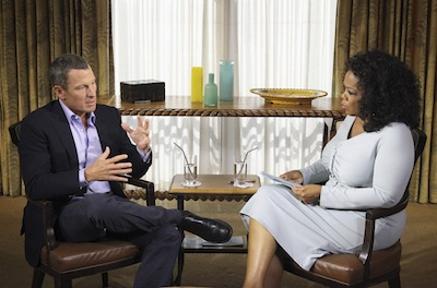 """Oprah's Next Chapter"" with Lance Armstrong--in which the seven-time Tour de France winner admitted to using performance-enhancing drugs--was a ratings hit, with over 3.2 million viewers tuning in to OWN on January 17, 2013. (ABCNews)"