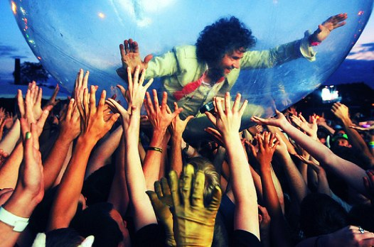 So, this happened at Pitchfork in 2009. Wayne Coyne of the Flaming Lips, in a bubble. (Flickr/JC Behm)