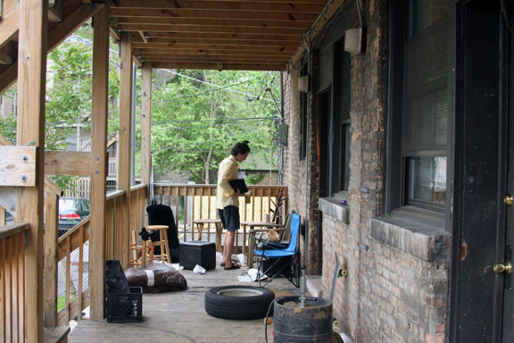 Porches can catch fire from common porch activities, like smoking or grilling. A cluttered porch can add fuel to flames and make escape more hazardous. (Flickr/Maura Connors)