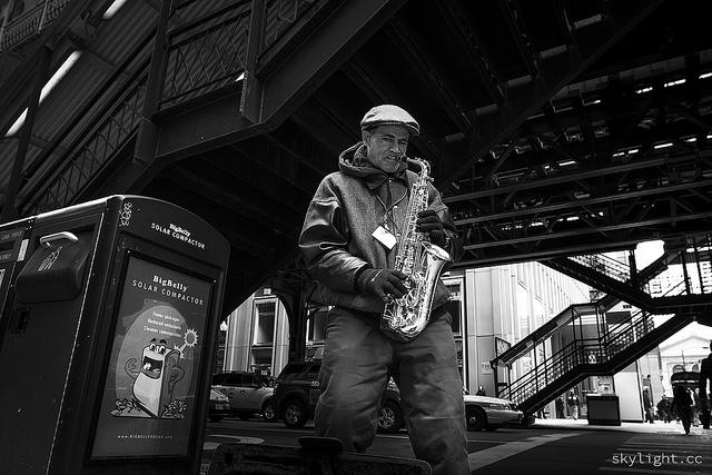 Sax Man (Flickr/steakmans)