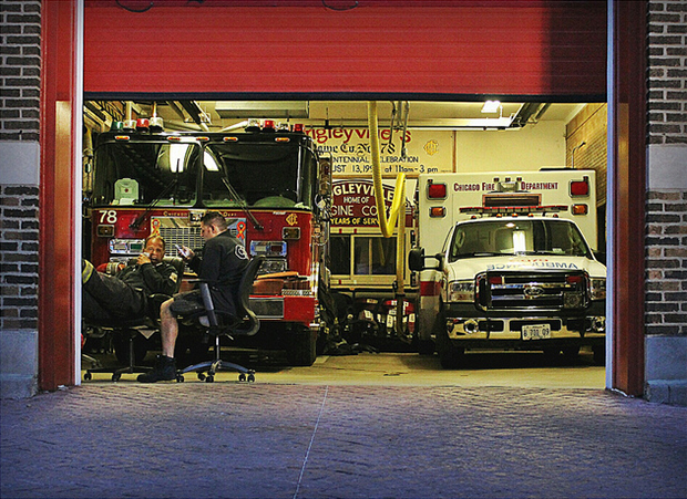Wrigleyville Fire Station (Flickr/Stephanie Barto)